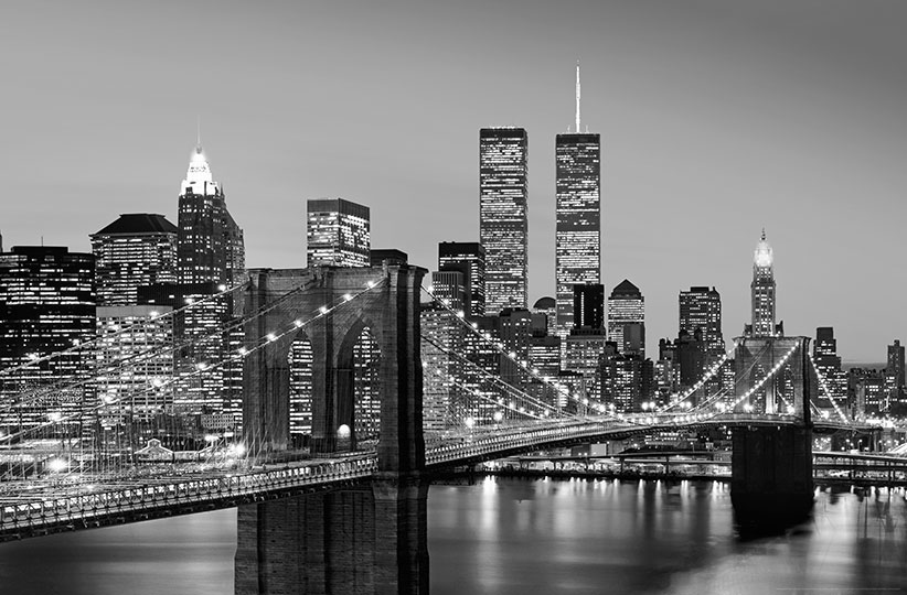Fotomural Manhattan Skyline at Night