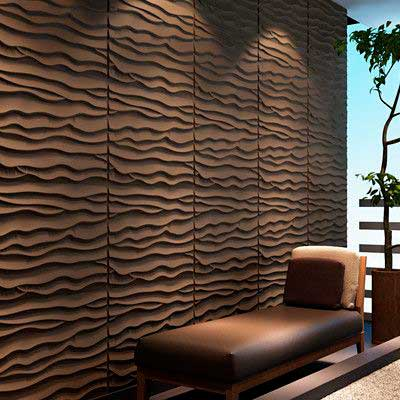Beach, Panel decorativo 3D fibra de bambú en Monterrey