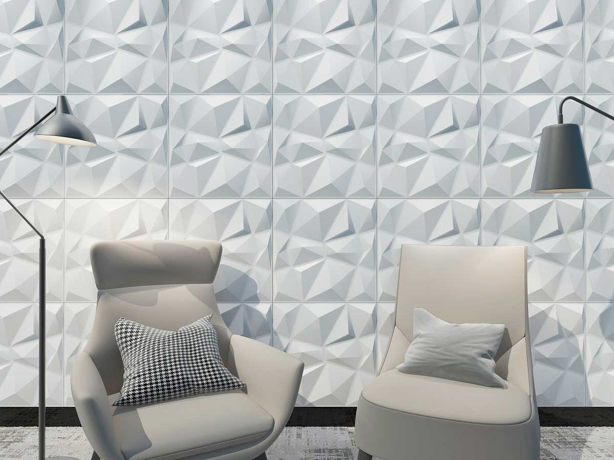 Diamond, Panel decorativo 3D fibra de bambú en Monterrey