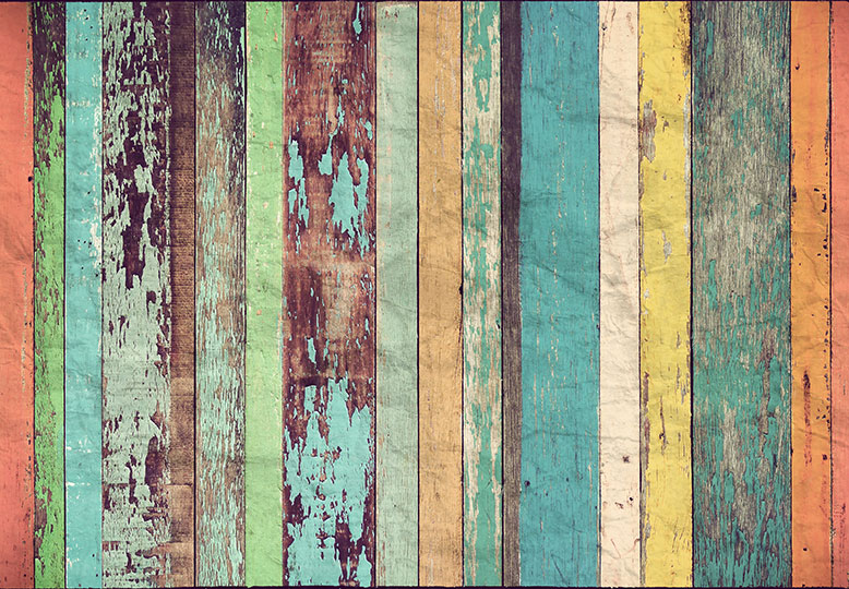 Fotomural Colored Wooden