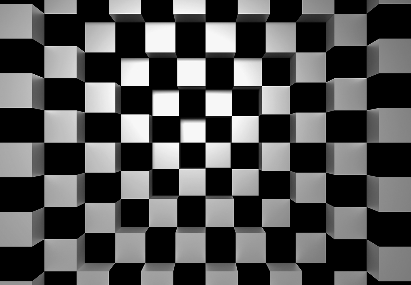 Fotomural Black and White Squares